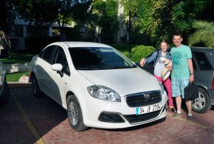 Наш Fiat Linea для поездки в Стамбул