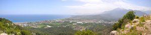Панорама Кириш c вершины холма в парке Бейдглары Сахили