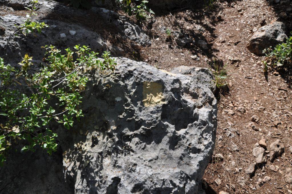 Метка для выхода на гору. Тропа Кириш-Кемер
